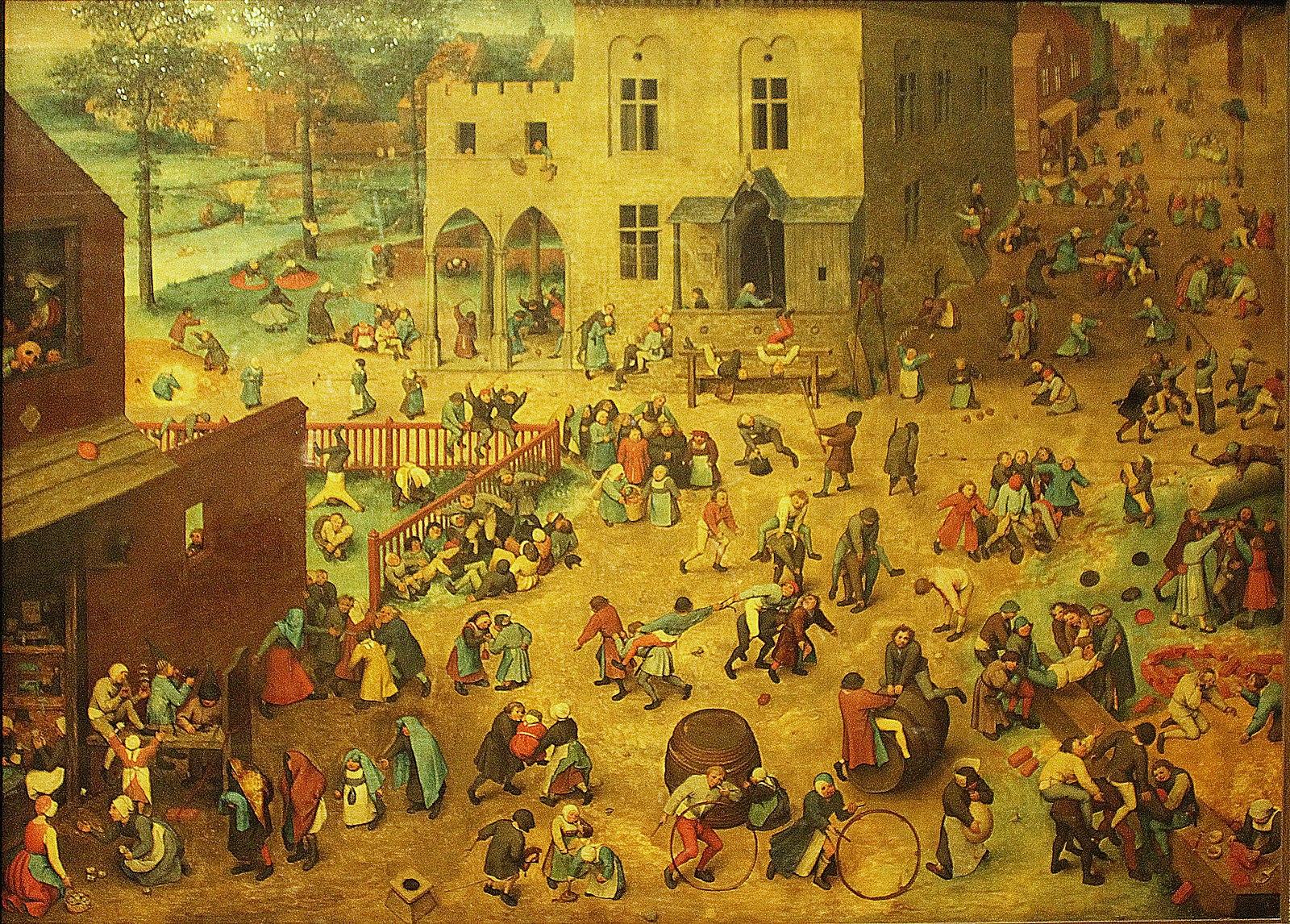 1600px Kunsthistorisches Museum Wien Pieter Bruegel d.Ä. spielende Kinder - Belohnung verbessert das Lernen, aber erst nach einer Runde Schlaf