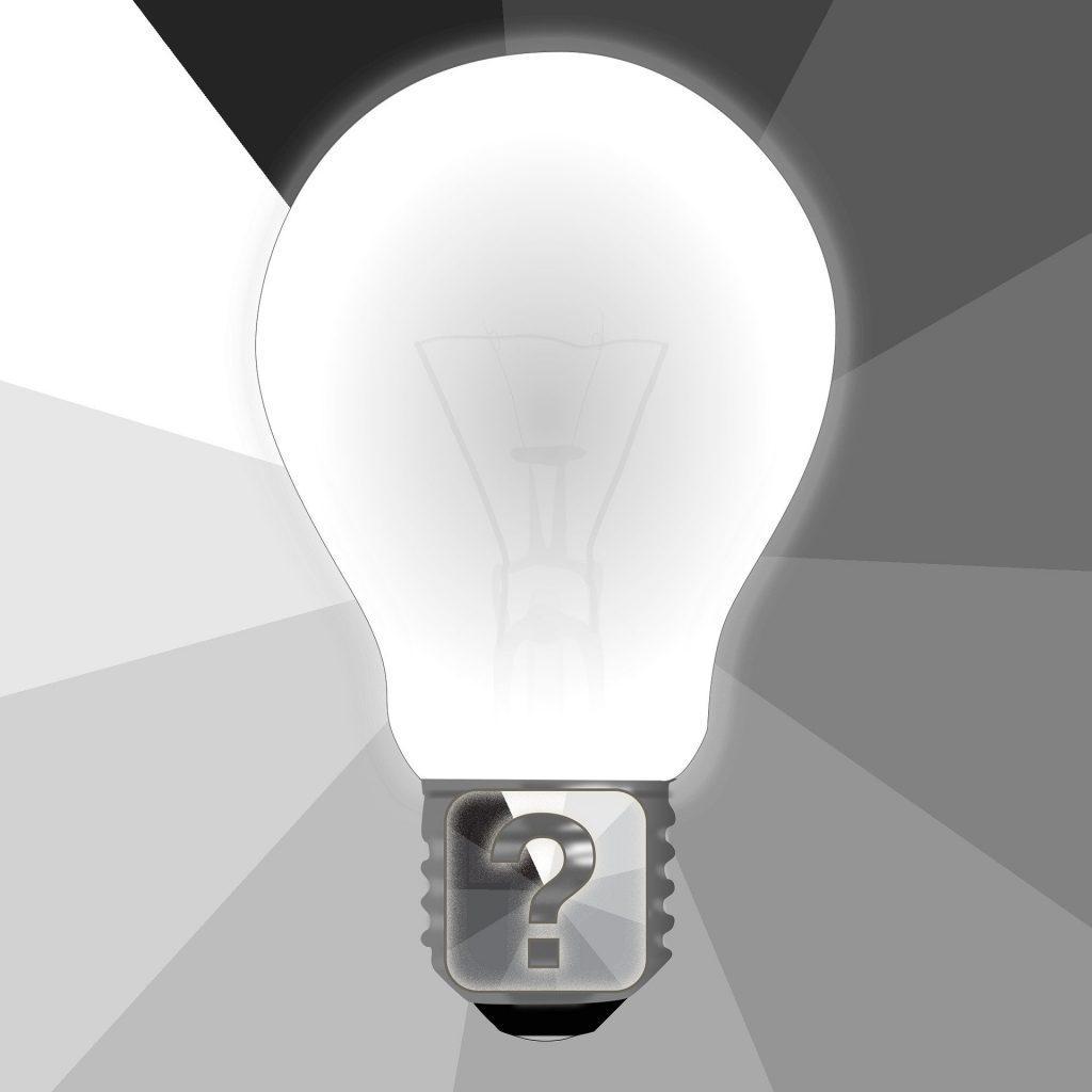 Frage Glühlampe Idee 1024x1024 - Die 7 Grundsätze der Achtsamkeit - #4 Vertrauen