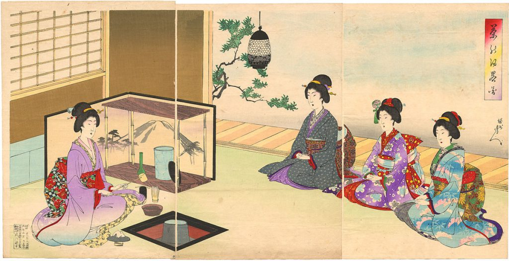 Tea Ceremony Yōshū Chikanobu Cha no yu