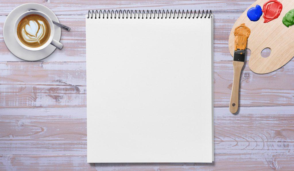 drawing pad paper colours coffee 1024x596 - Die 7 Grundsätze der Achtsamkeit - #1 Nicht-Urteilen