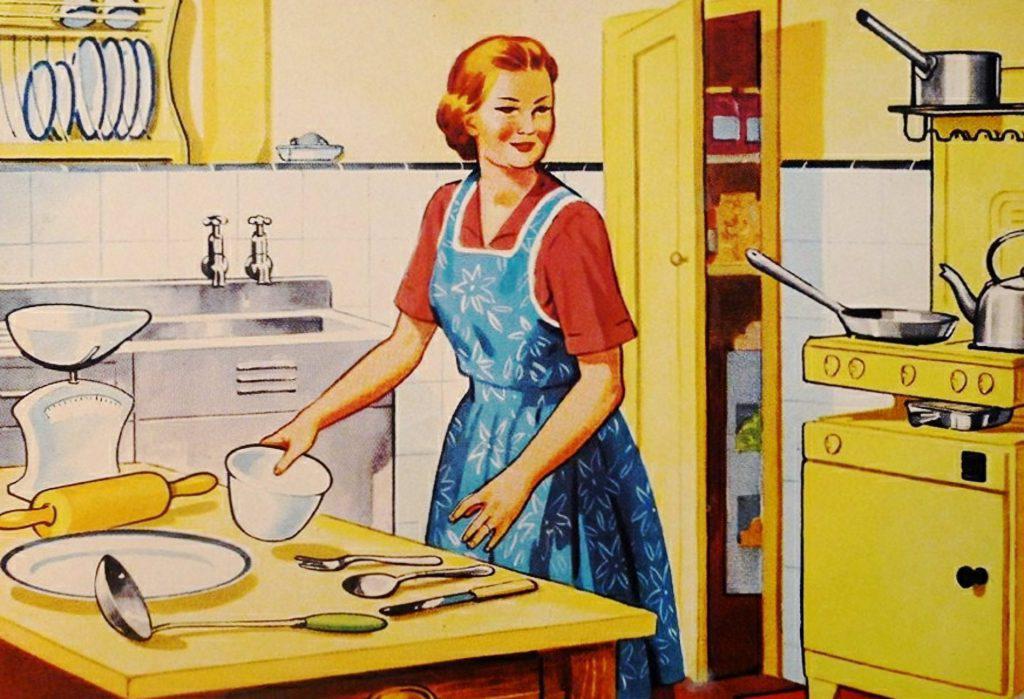 Agilität fifties housewife kitchen