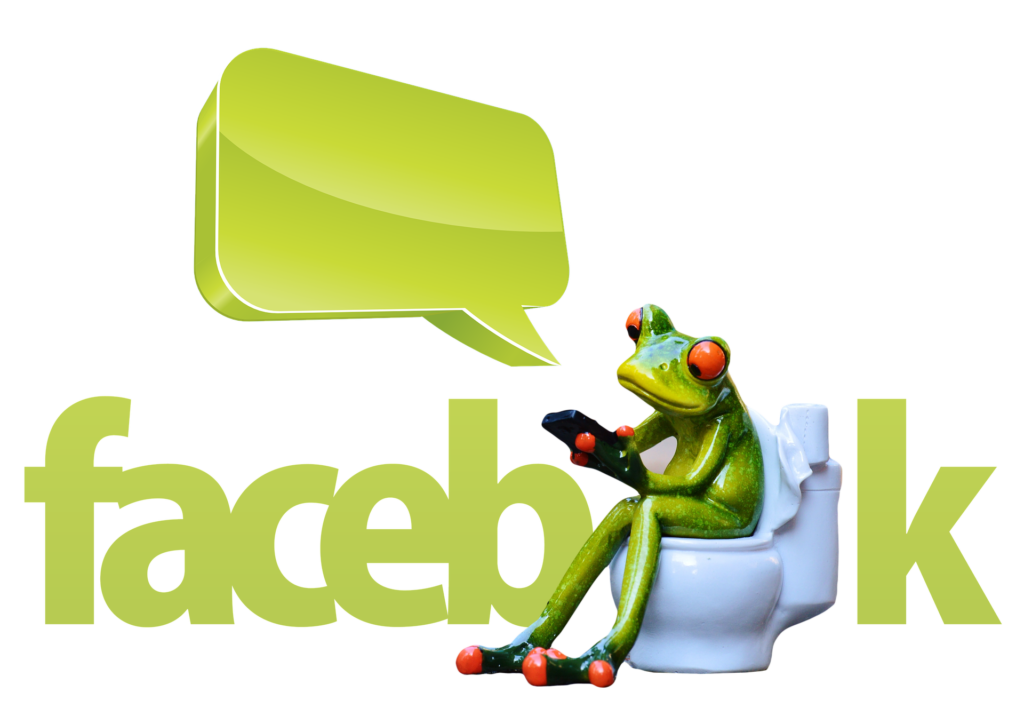 Smartphone Abhängigkeit Frosch Facebook