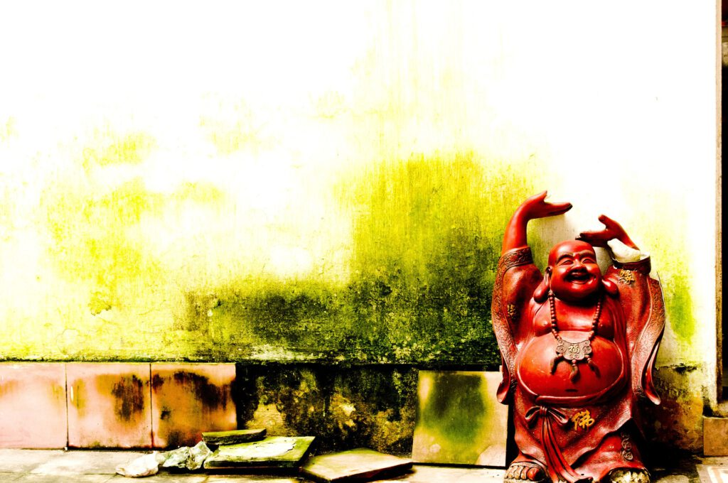 Lebenszufriedenheit Laughing Buddha